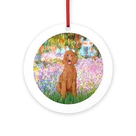 Garden/Std Poodle (apricot) Ornament (Round)