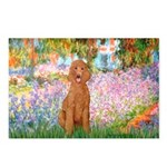 Garden/Std Poodle (apricot) Postcards (Package of