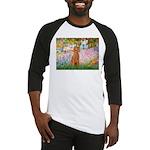 Garden/Std Poodle (apricot) Baseball Jersey
