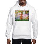 Garden/Std Poodle (apricot) Hooded Sweatshirt
