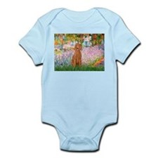 Garden/Std Poodle (apricot) Infant Bodysuit