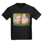 Garden/Std Poodle (apricot) Kids Dark T-Shirt