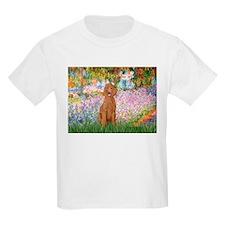 Garden/Std Poodle (apricot) T-Shirt