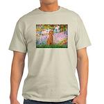 Garden/Std Poodle (apricot) Light T-Shirt