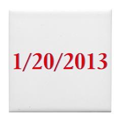 1/20/2013 - Obama's last day Tile Coaster