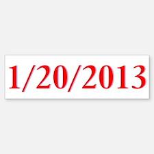 1/20/2013 - Obama's last day Bumper Bumper Bumper Sticker