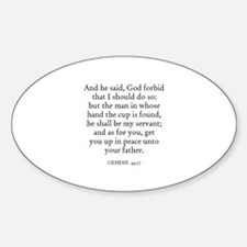 GENESIS 44:17 Oval Decal
