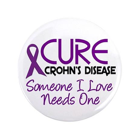 "Cure Crohn's Disease 2 3.5"" Button"