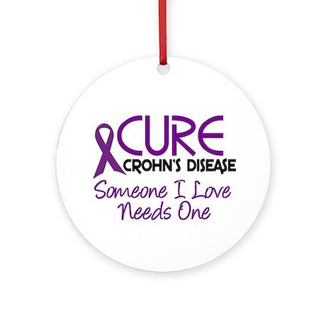 Cure Crohn's Disease 2 Ornament (Round)