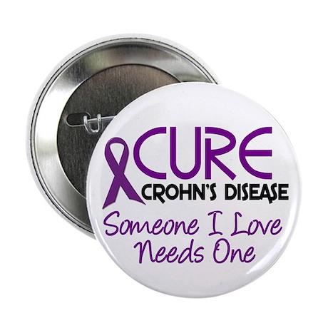 "Cure Crohn's Disease 2 2.25"" Button (100 pack)"
