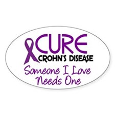Cure Crohn's Disease 2 Oval Sticker (10 pk)
