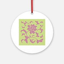 Oriental Flower - Strawberry & Round Ornament