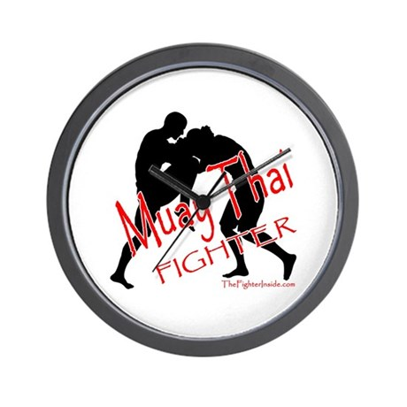 Muay Thai Fighter Wall Clock