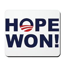 Hope Won! (Obama Symbol) Mousepad