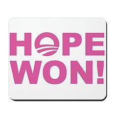 Hope Won (Obama - Pink) Mousepad