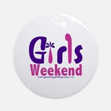 Girls Weekend in the Pink Ornament (Round)