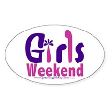 Girls Weekend in the Pink Oval Decal