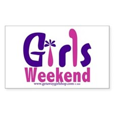 Girls Weekend in the Pink Rectangle Decal