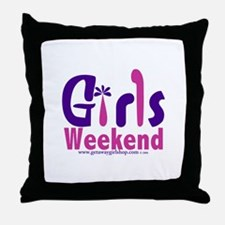 Girls Weekend in the Pink Throw Pillow