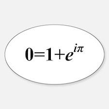 Euler Formula Oval Decal