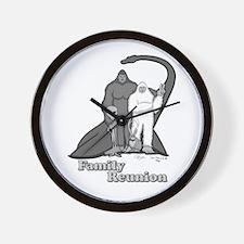 Bigfoot Family Reunion Wall Clock