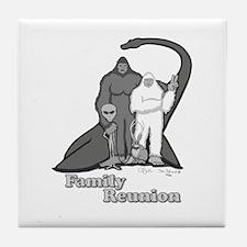 Bigfoot Family Reunion Tile Coaster