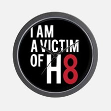 Cute Victim of h8 Wall Clock