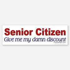 Senior Citizen Discount Bumper Bumper Bumper Sticker