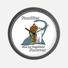 Families Together Forever Wall Clock