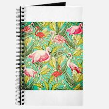 Aloha Tropical Jungle Flowers and Bird Pat Journal