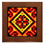 Folk Design 5 Framed Tile