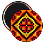 "Folk Design 5 2.25"" Magnet (10 pack)"
