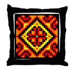 Folk Design 5 Throw Pillow