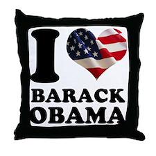 I love Barack Obama American Throw Pillow