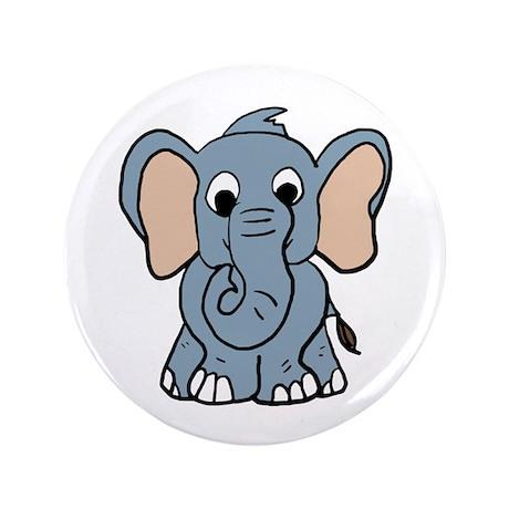 "Cute Elephant 3.5"" Button"