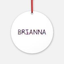 Brianna (Girl) Ornament (Round)