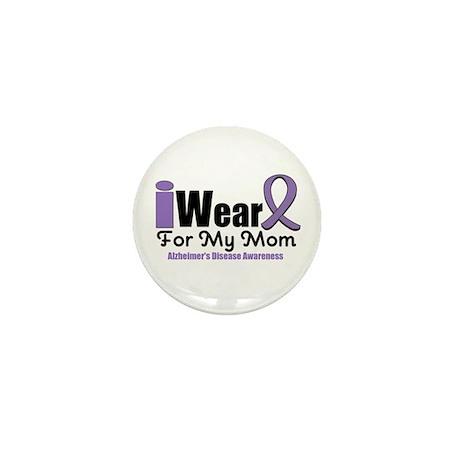 I Wear Purple Mom Mini Button