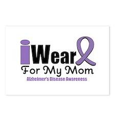 I Wear Purple Mom Postcards (Package of 8)
