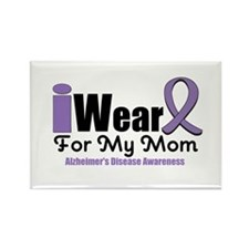 I Wear Purple Mom Rectangle Magnet