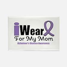 I Wear Purple Mom Rectangle Magnet