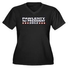 Tim Pawlenty for President 20 Women's Plus Size V-