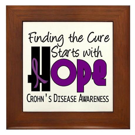 HOPE Crohn's Disease 4 Framed Tile