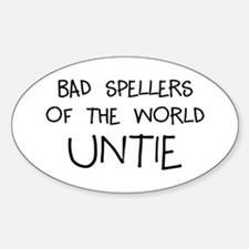 Bad Spellers Sticker (Oval)