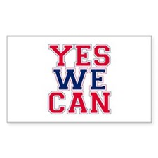 YES WE CAN Rectangle Decal
