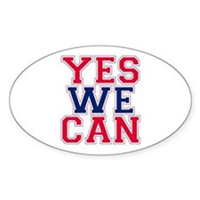 YES WE CAN Oval Decal