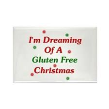 Dreaming Of A Gluten Free Christmas Rectangle Magn