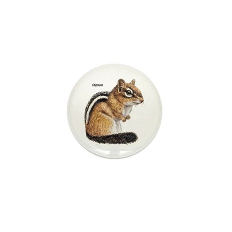 Ground Squirrel Chipmunk Mini Button