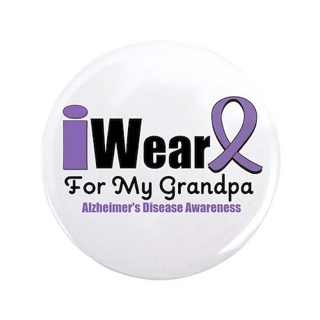 """I Wear Purple (Grandpa) 3.5"""" Button"""