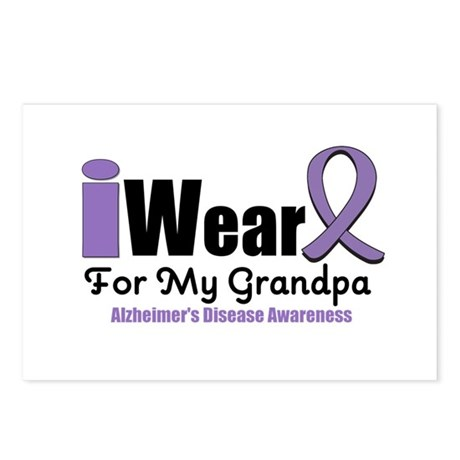 I Wear Purple (Grandpa) Postcards (Package of 8)
