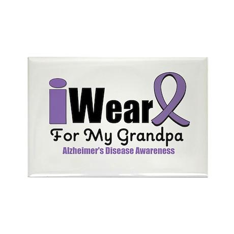 I Wear Purple (Grandpa) Rectangle Magnet (10 pack)